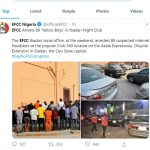 EFCC Arrested 89 Yahoo Boys In the Ibadan Night Club Raid
