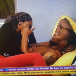 #bbnaija2020: Eric And Lilo Caught Kissing Passionately While Everyone Slept