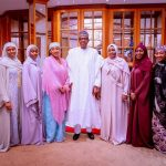 Buhari, Aisha And Children Celebrate Eid-El-Filtri In Aso Rock